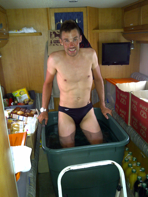 Icy baths to aid post-Tour recovery (image courtesy of Cofidis)