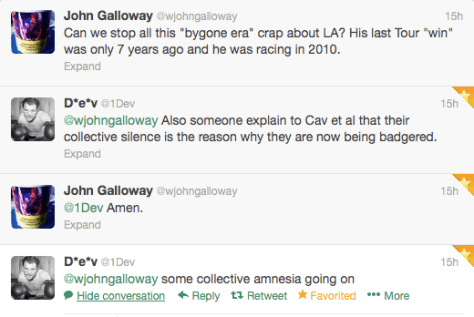 Cav Galloway reaction