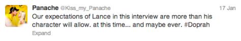 Panache Lance tweet 1