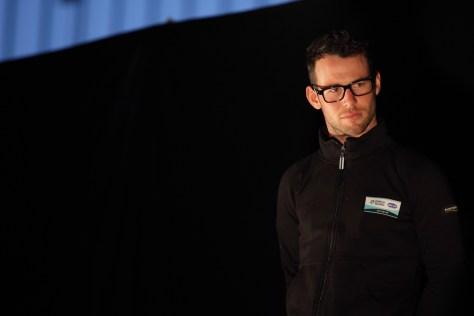Lovin' the boffin look for Mark Cavendish at 2013 Team Presentation
