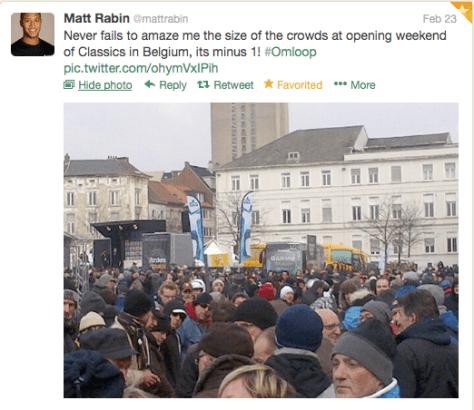 Omloop Belgian fans