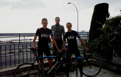 l to r Joe Dombrwski, Anton Blackie and Ian Boswell (image courtesy of Cycle Cote D'Azur)