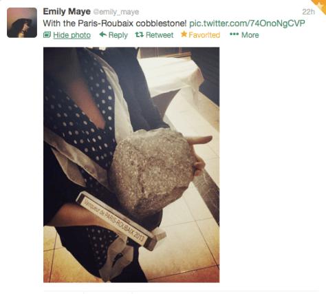 PR Emily Maye cobblestone