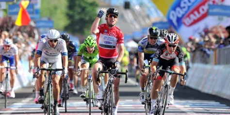Cavendish will be hoping to add a second green jersey to his red one from the Giro (Image: Giro d'Italia)