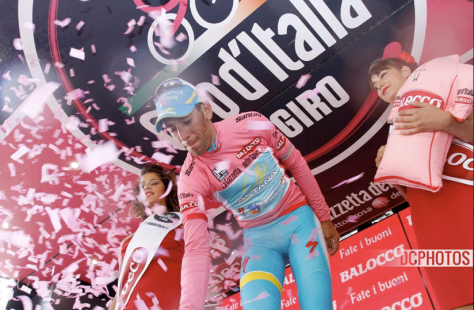 Nibali spent a lot of time on the podium during this Giro (Image: Davide Calabresi)