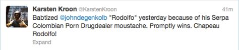 Karesten Kroon tweet
