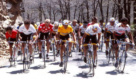 Lucho Herrara on the way to his Vuelta victory in 1987 (Image: Wikipedia)