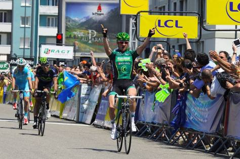 First time Tommy's aised his arms this season (image: Europcar)