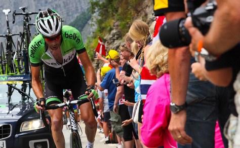 Laurens Ten Dam drools his way up Alpe D'Huez - CC