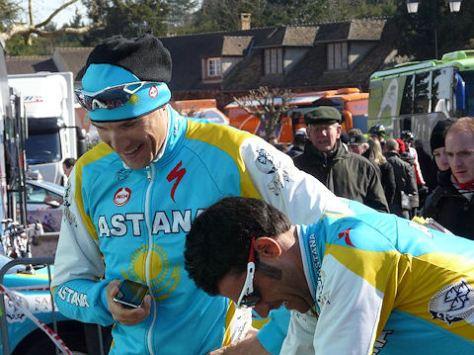 Maxim Gourov (left) with Oscar Pereiro (image: Astana)