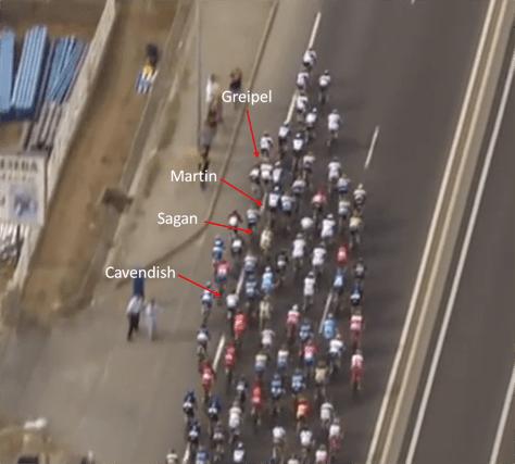 How the crash unfolded (TV image: Eurosport)