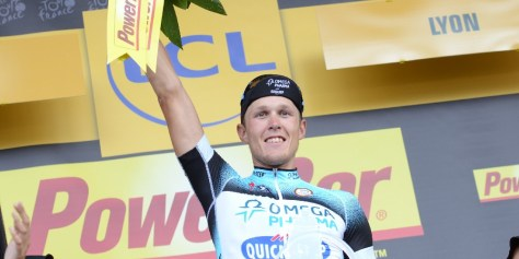 Matteo Trentin will be celebrating again in August (Image: ASO/P Perreve)