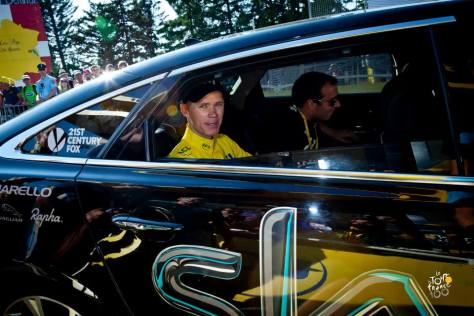 TdF Froome driven away ASO