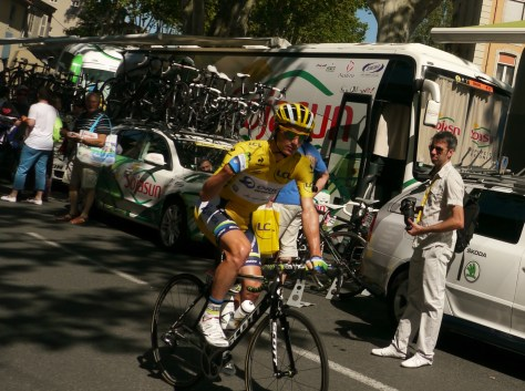 Last, but not least, the yellow jersey Darryl Impey (image: Sheree)