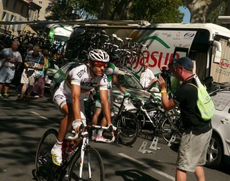 It's Fast PhilGil, that white kit showcases his fab tan (image: sheree)