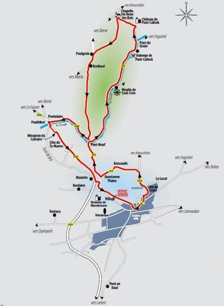 Map of GP Ouest France cicuit (image: Official race website)