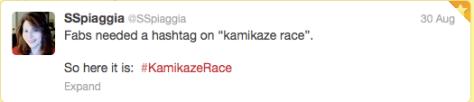 Vuelta Fabs Kamikaze hashtag