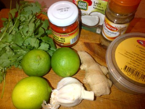 Ingredients for sweet, sour, salty and spicy mussels (image: Sheree)