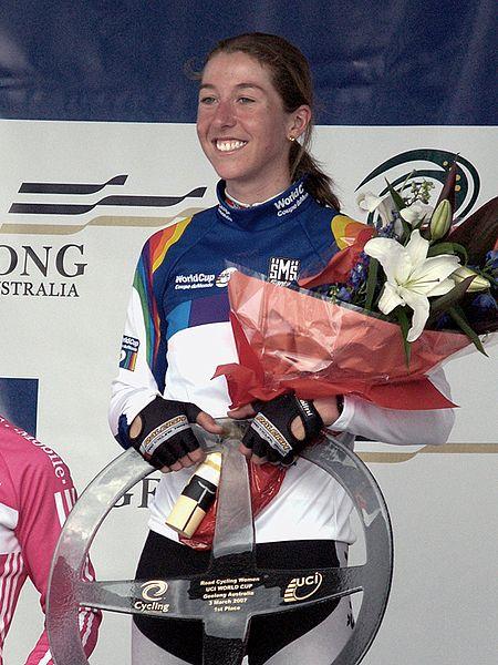 2007 World Cup winner Nicole (image: Nicole Cooke)