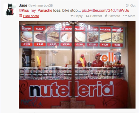 Nutella bike stop