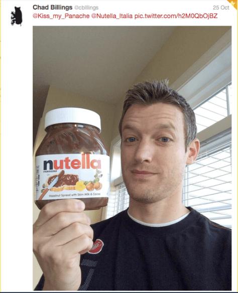 Nutella selfie 3