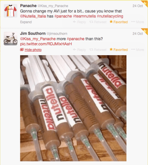 Nutella syringes