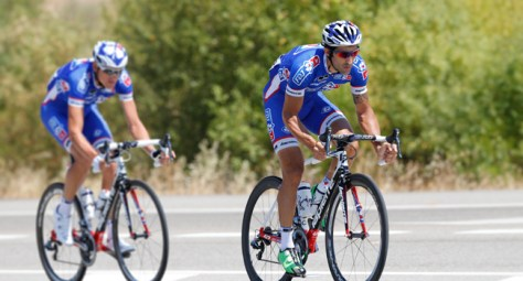 FDJ's striking blue kit, as modelled by Geoffrey Soupe at this year's Vuelta a Espana (Image: FDJ)
