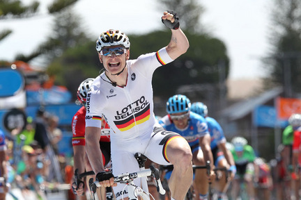 Greipel won stage four at a canter after crosswinds eliminated Kittel from contention (Image: TDU/John Veage)