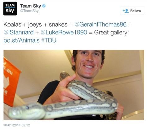Geraint snake charmer