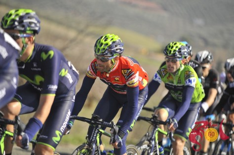 Valverde was well protected by his Movistar teammates all week (Image: Vuelta a Andalucia)