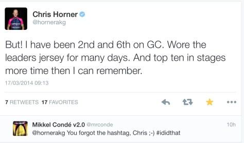 Horner I did that 1