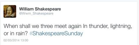 Shakespeare last word