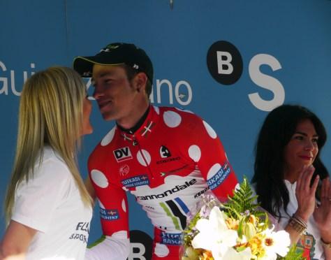 Davide graced the KOM jersey all week (image: Richard Whatley)
