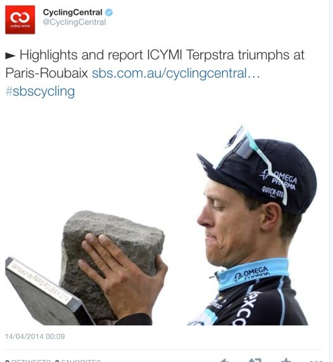 PR podium Terpstra stone