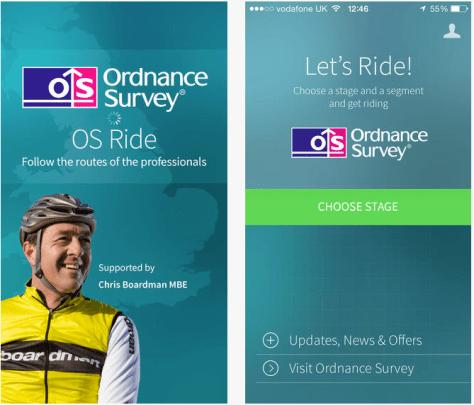 OS Ride app screenshot