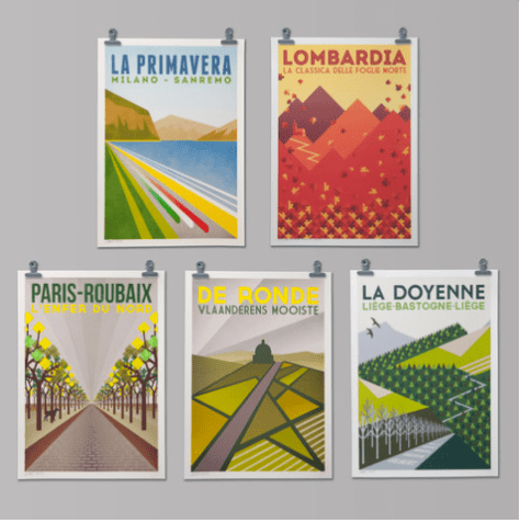 Monuments posters Handmade Cyclist Look Mum no Hands