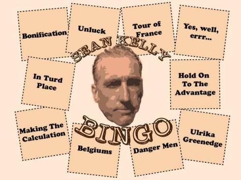 Sean Kelly Bingo card (Image: Velocast)