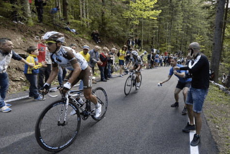 Giro stage 9 Pozzovivo (Image: Gazzetta)