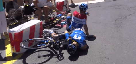 de la Cruz crash Tour de France 2014 stage 12