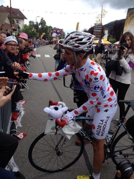 A spot too far for Blel Kadri (Ag2r-La Mondiale) (image: Twittcyclos)
