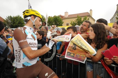 Peraud was the only rider who could keep up consistently with Nibali in the mountains (Image: ASO/B Bade)