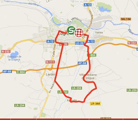 Vuelta 2014 Stage 12 map