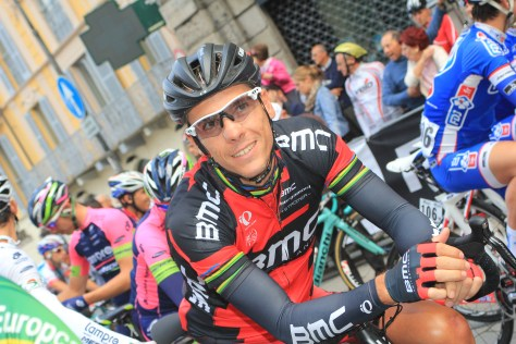 Looking happy on the start line, former winner Philippe Gilbert (BMC) (image: Flaviano Ossola)