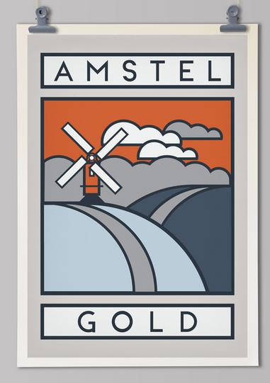 Handmade cyclist Amstel 1