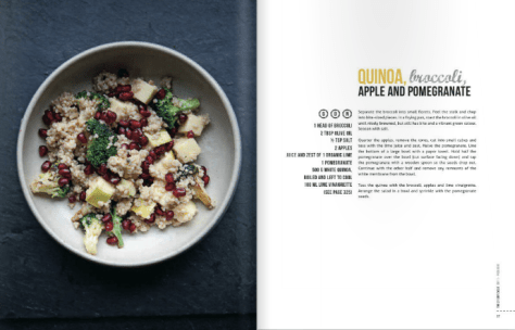 Quinoa, broccoli