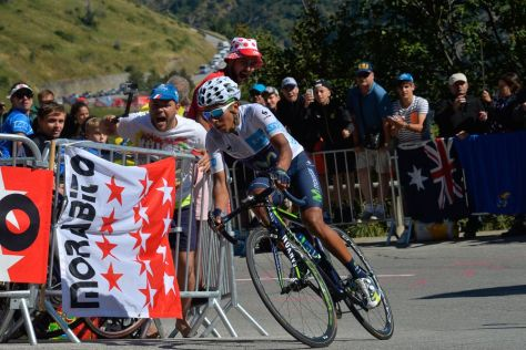Quintana's performance on Alpe d'Huez was greeted with warmth noticeably absent from Froome's ride on La Pierre St Martin (Image: ASO/B Bade)