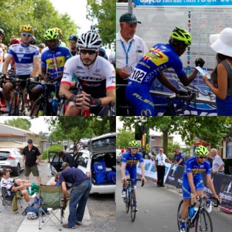 Karl and the team at the recent Jayco Herald Sun Tour
