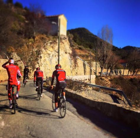 Rudy training with friends on the Cote d'Azur (image: Facebook)