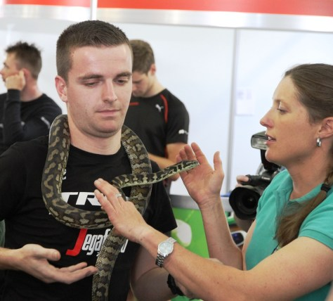 One of the Trekkies looking a bit nervous (image: Richard Whatley)ks a bit