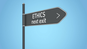 ETHICS next exit sign
